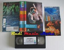 VHS PETER GABRIEL Secret world live 1994 PMI 7243 4 91281 3 2 cd mc dvd (VM2)
