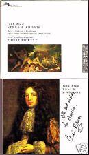 John BLOW VENUS & ADONIS Bott Agnew Gooding PICKETT CD Christopher Robson Signed
