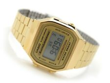 CASIO VINTAGE RETRO DIGITAL A168WG-9W GOLD TONE QUARTZ ALARM WOMEN'S WATCH NEW