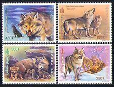 Mongolia 1999 WOLVES/Nature/Wildlife/Conservation/Environment 4v set (n11599)