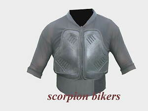 Motorcycle Motocross Vest Body Armour Back Spine Protector Size XL