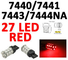 7443 992/7440 T20 27 SMD 5050 Pure RED Stop Tail Brake 27 LED Car Light Bulb L