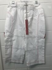 Boys Size 1 (18m) French Clayeux New BNWT White Summer Cargo Pants Jeans