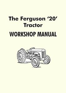 Ferguson TE20 tractor manual (Grey Fergy)