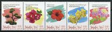 Bonaire Caribbean Netherlands Flowers Stamps 2020 MNH Hibiscus Agave 5v Strip