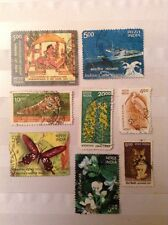 8 India Postage Stamps From 2000s