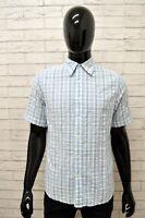 Camicia KAPPA Uomo Taglia M Maglia Shirt Man Cotone Manica Corta Quadri Slim Fit