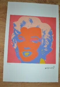ANDY WARHOL Lithograph Ltd Ed 100 Pink Marilyn LEO CASTELLI ARCHES PAPER 15X22