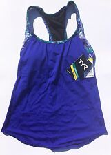 TYR Women's Solay Active 2 in 1 Tank- Emerald Lake (Velvet/Turquoise) Size: X-SM