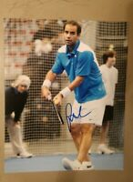 PETE SAMPRAS SIGNED 8X10 PHOTO US OPEN TENNIS MEN CHAMP W/COA+PROOF RARE WOW