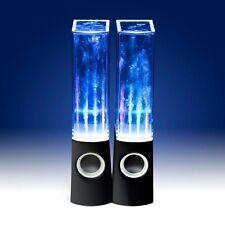 USB LED Light Dancing Water Speaker Music Box PC Laptop MP3 MP4 Cell Phone Black