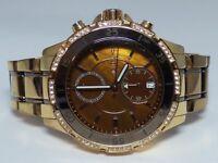 Michael Kors MK5553 Women's Rose Gold tone Stainless Steel Bracelet Brown Dial C