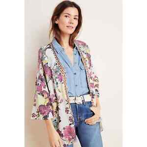 New Anthropologie Simone Floral Cardigan by Aldomartins  $268 SMALL