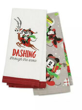 New Disney Parks Nordic Winter Mickey and Friends Kitchen Holiday Dish Towel Set