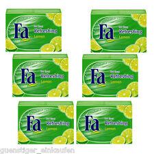 ( 22,37€/kg ) 6x 100g FA refrescante limón Jabón Fija Bloque de Juego 3