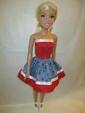 Handmade Dress Made By Me To Fit Best Fashion Friend 28 inch tall dolls.Ladybugs