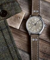Laco Watch Augsburg Taupe 39mm Limited EdItion Rare Type-A Automatic New!