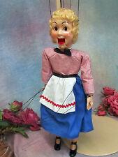 VINTAGE 1950s MARIONETTE puppet toy GRETEL Hazelle's  AIRPLANE control TALKING