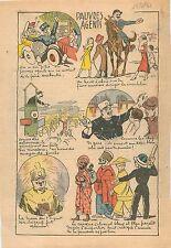 Caricature Agent de Police Gardien de la Paix Circulation Automobile Paris 1931