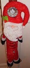 "Christmas Santa Claus Door Hanger 14"" Long"