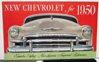 1950 Chevrolet ORIGINAL Color Sales Brochure Styleline Fleetline Belair Wagon