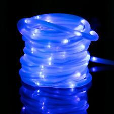 Blue Waterproof Outdoor39ft(12m)100LEDS String Strip Solar Rope Tube Lights