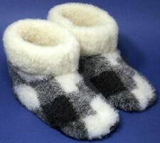 Women's sheep Wool SLIPPERS, New felt Boots, Sheepskin Ukrainian snuggs Valenki
