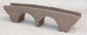 Z GAUGE Z SCALE OLD 2 ARCH STONE BRIDGE LASER CUT AND ENGRAVED PRO PAINTED
