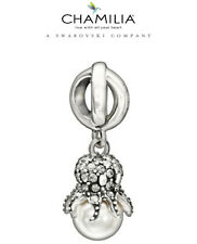 CHAMILIA Sterling Silver Octopus Garden Swarovski Crystal Pearl Charm 2025-1093