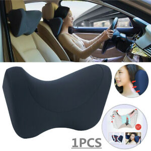 1x Car Seat Headrest Neck Pillow Memory Foam Ergonomic Soft Sleep Travel Support