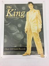 """The king of Rock & Roll retro  Elvis Presley Gold Suit Figure Tin Sign 12.5X16"""""""