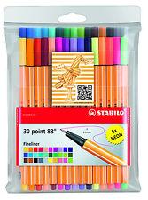 STABILO point 88 ligne fine pigment couleurs assorties - Paquet de 30