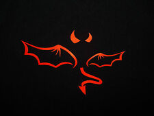 Red Evil Devil Logo Auto Car Vinyl Decor Graphics Removable Art Decal Sticker