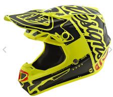 2018 Troy Lee Designs TLD Adult SE4 Polyacrylite Factory Helmet Yellow MX Moto