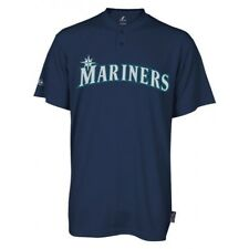 Majestic Two-Button Seattle Mariners Replica Adult Cool Base Jersey SZ L (R29)