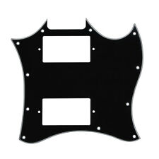 New Black Color 3Ply SG Style Electric Guitar Pickguard Scratch Plate & Screws