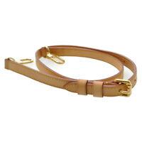 LOUIS VUITTON Leather Shoulder Strap 93-105cm LV Auth kh376