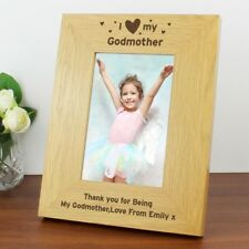GIFT IDEA FOR GODMOTHER GODPARENTS Personalised Photo Frame Christening Present