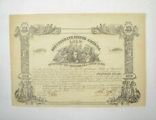 Authentic - 1862 Confederate States - Civil War $500 Bond Certificate *189