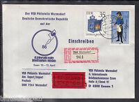 Germany DDR Einschreiben, Express Sendung Labels WERMSDORF Messe Essen 86