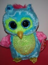 """Ty Beanie Boos ~ OPAL the Owl 6"""" (2013 Justice Exclusive) NEW MWMT"""