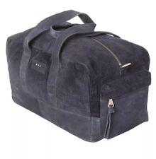 john varvatos Corduroy Duffle Suede Navy Bag NWT $299