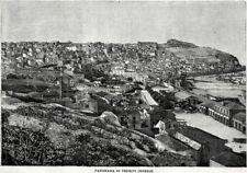 Termini Imerese: Panorama. Grande Veduta. Stampa Antica + Passepartout. 1900