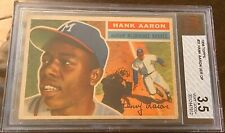 1956 Topps #31 Hank Aaron (HOF) Milwaukee/Atlanta  BVG 3.5 VG+ Beautiful!