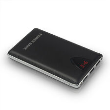 50000mah Portable Power Bank LCD 2 LED 3USB Pack Battery Charger For Phone Black