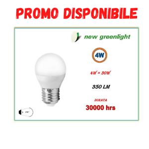 LAMPADA LAMPADINA LED SFERA 4W E27 350 LUMEN 3000K 4000K 6000K