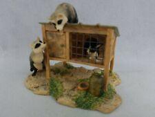 "*F) 1982 Schmid Lowell Davis ""Stirring Up Trouble"" Raccoons trash pandas bunny"