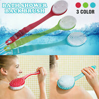 Special Long Handled Body Bath Shower Back Brush Scrubber Massager Clean Beauty