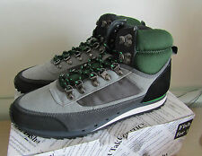 FISH 'N' CHIPS Gris & Vert High Top Trainers Taille 9