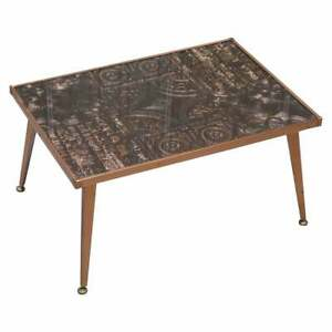 STUNNING ZAMBIAN COPPER CRAFT LTD ORNATE COFFEE OR COCKTAIL TABLE SERIOUSLY COOL